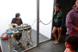 Performance in underground gallery curated by jan chudozilov