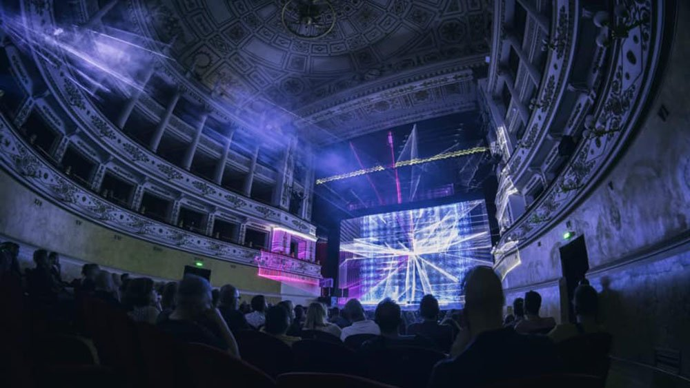 Robert Henke - Lumiere III at Teatro della Fortuna, Fano, Panopticon